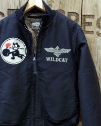 "TOYS McCOY -NAVAL AVIATION GROUND CREW DECK JACKET ""WILD CAT""-"