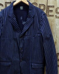 SUGAR CANE / FICTION ROMANCE -9oz. WABASH STRIPE JACKET-
