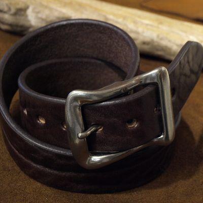 """画像1: BARNS Leather Belt """"LE-4168"""""""