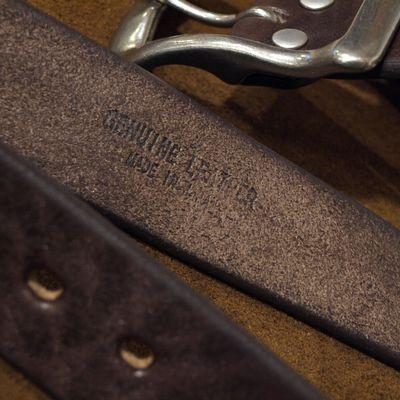 """画像4: BARNS Leather Belt """"LE-4168"""""""