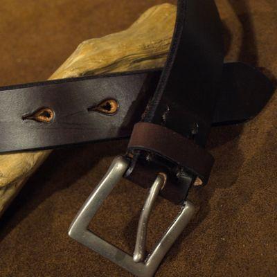 """画像2: Pherrow's """"SBB4"""" UK Saddle Leather BELT"""