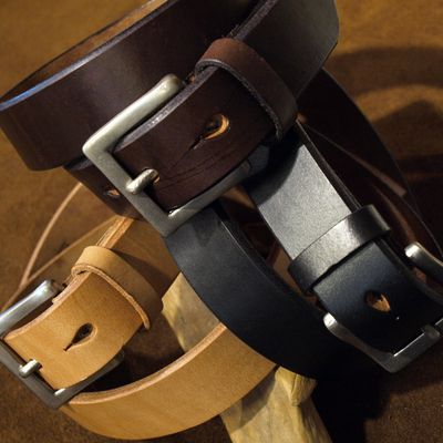 """画像1: Pherrow's """"SBB4"""" UK Saddle Leather BELT"""