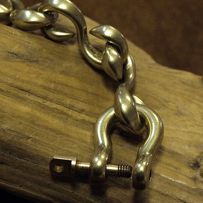 "画像4: Inception ""f-hole brass chain"""