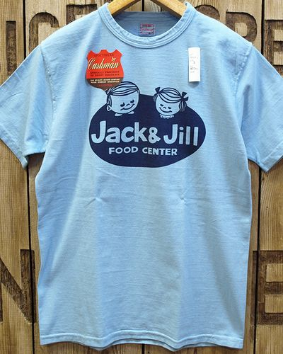 "画像4: CUSHMAN ""JACK&JILL"" RECYCLE COTTON TEE"