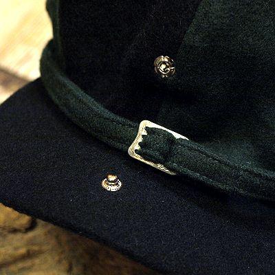 """画像3: ADJUSTABLE COSTUME """"Special 2-tone Felt 20's Style Casquette"""" BLACK×D.GREEN"""