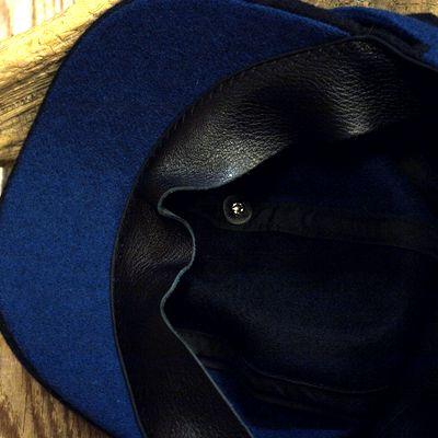 """画像4: ADJUSTABLE COSTUME """"Special 2-tone Felt 20's Style Casquette"""" NAVY×D.BLUE"""
