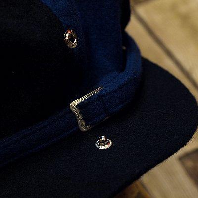 """画像3: ADJUSTABLE COSTUME """"Special 2-tone Felt 20's Style Casquette"""" NAVY×D.BLUE"""