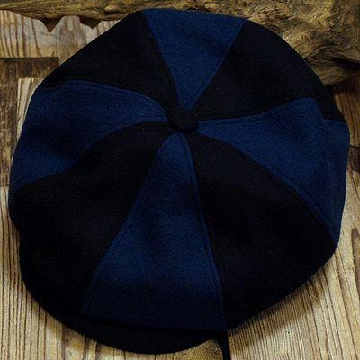 """画像2: ADJUSTABLE COSTUME """"Special 2-tone Felt 20's Style Casquette"""" NAVY×D.BLUE"""