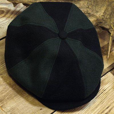 """画像2: ADJUSTABLE COSTUME """"Special 2-tone Felt 20's Style Casquette"""" BLACK×D.GREEN"""