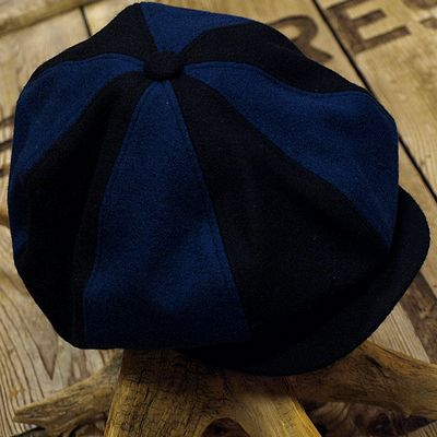 """画像1: ADJUSTABLE COSTUME """"Special 2-tone Felt 20's Style Casquette"""" NAVY×D.BLUE"""