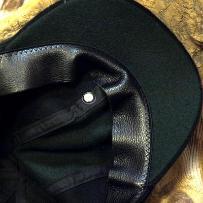 """画像4: ADJUSTABLE COSTUME """"Special 2-tone Felt 20's Style Casquette"""" BLACK×D.GREEN"""