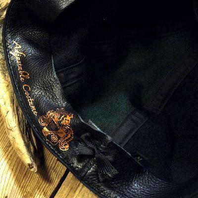 """画像5: ADJUSTABLE COSTUME """"Special 2-tone Felt 20's Style Casquette"""" BLACK×D.GREEN"""