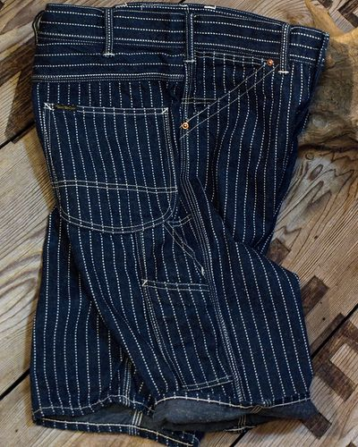 画像1: TOYS McCOY -CROPPED RAILMAN TROUSERS WABASH-