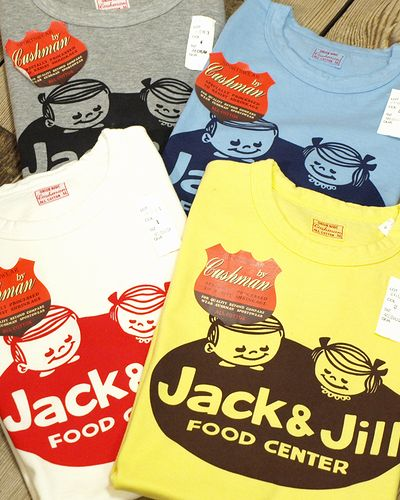 "画像1: CUSHMAN ""JACK&JILL"" RECYCLE COTTON TEE"