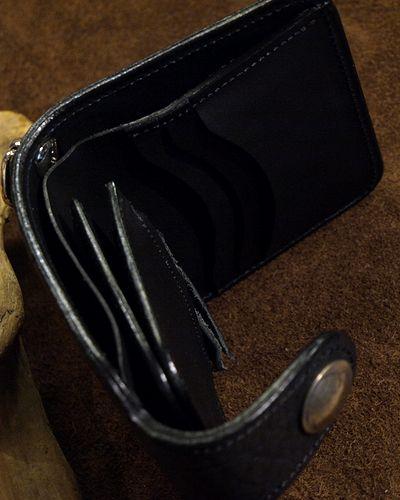画像2: KC,s -BILLFOLD SHELBY HORSEHIDE 5¢ concho- BLACK