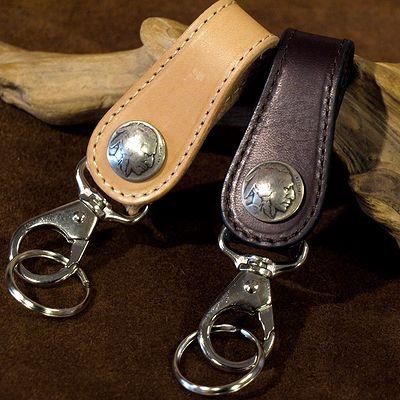 画像2: KC,s -KEY RING 5¢ concho COWHIDE-