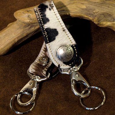 画像2: KC,s -KEY RING 5¢ concho UNBORN CALF-