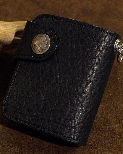 画像5: KC,s -BILLFOLD SHELBY HORSEHIDE 5¢ concho- BLACK