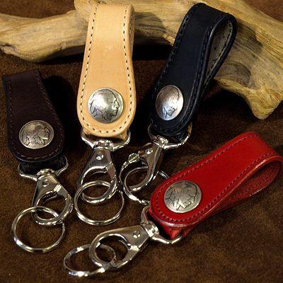 画像1: KC,s -KEY RING 5¢ concho COWHIDE-