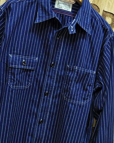 "画像3: Sugar Cane ""8.5oz. WABASH STRIPE WORK SHIRT"""