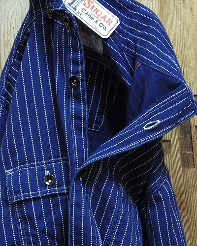 "画像2: Sugar Cane ""8.5oz. WABASH STRIPE WORK SHIRT"""