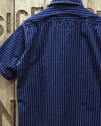 画像5: SUGAR CANE FICTION ROMANCE -8.5oz. WABASH STRIPE S/S WORK SHIRT-