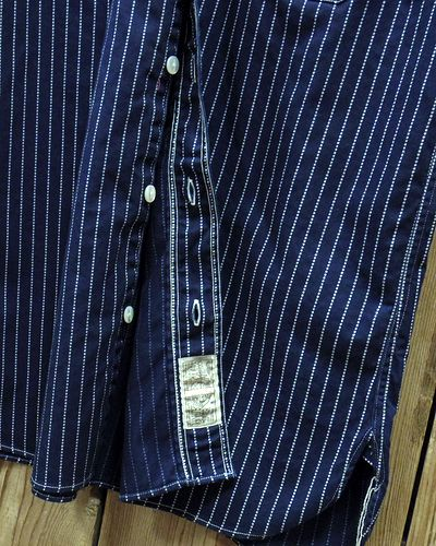 画像4: SUGAR CANE FICTION ROMANCE -8.5oz. WABASH STRIPE S/S WORK SHIRT-