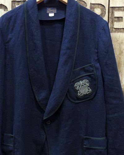 """画像1: Pherrow's """"16S-PSJ1"""" Vtg Style Smoking Jacket"""