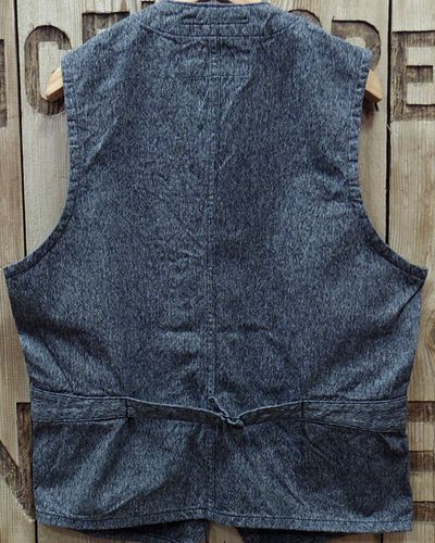 "画像5: Sugar Cane ""9oz. BLACK COVERT WORK VEST"""