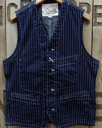 "画像2: Sugar Cane ""9oz. WABASH STRIPE WORK VEST"""