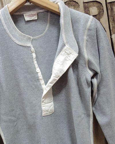 画像3: ADJUSTABLE COSTUME -30's STYLE L/S HENLEY NECK SHIRT-