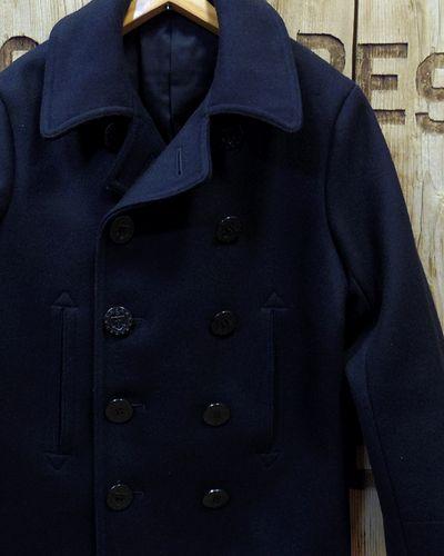 """画像1: BUZZ RICKSON'S -TYPE PEA COAT """"NAVAL CLOTHING FACTORY""""-"""