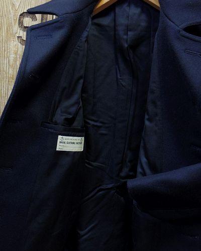 """画像4: BUZZ RICKSON'S -TYPE PEA COAT """"NAVAL CLOTHING FACTORY""""-"""