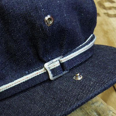 "画像2: ADJUSTABLE COSTUME ""20's Style Casquette"" INDIGO DENIM"