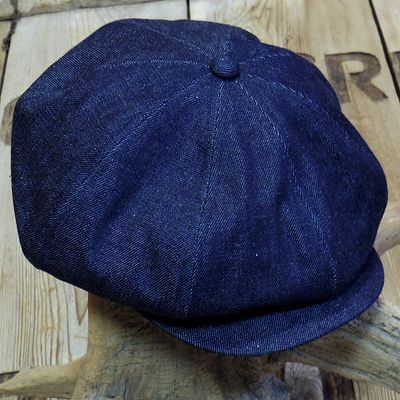 "画像1: ADJUSTABLE COSTUME ""20's Style Casquette"" INDIGO DENIM"