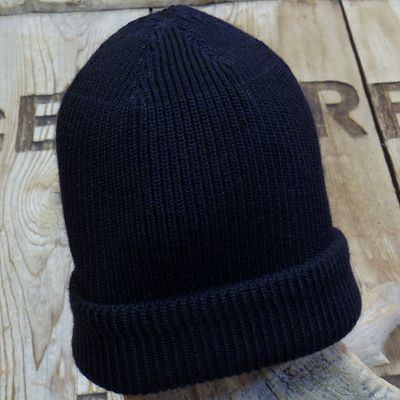 "画像1: WILLIAM GIBSON COLLECTION ""BLACK A-4 KNIT CAP"""