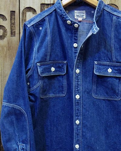 "画像2: Pherrow's ""16W-770NC"" BAND COLLAR WORK SHIRT"