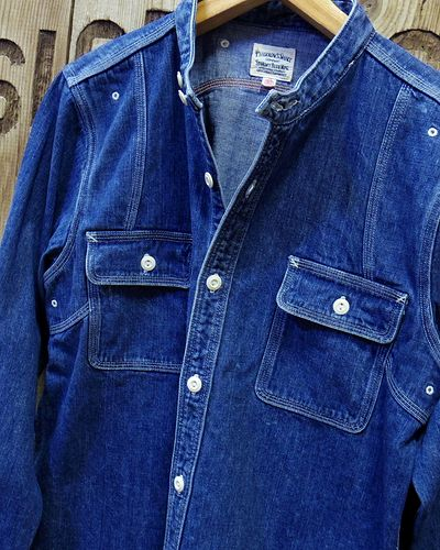 "画像3: Pherrow's ""16W-770NC"" BAND COLLAR WORK SHIRT"