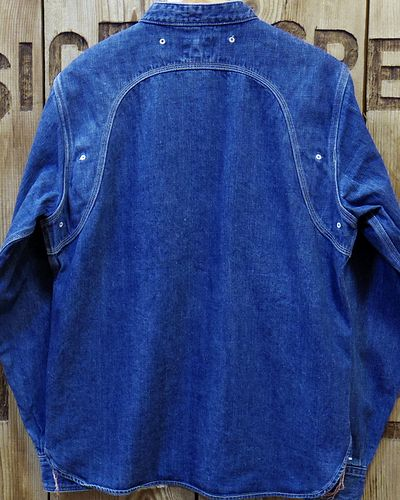 "画像5: Pherrow's ""16W-770NC"" BAND COLLAR WORK SHIRT"