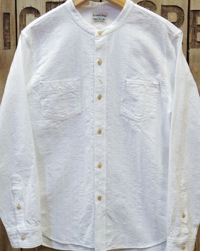 "画像2: Pherrow's ""17S-791WS"" BAND COLLAR SHIRT"