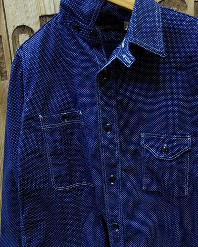 画像3: FULLCOUNT -CIGARETTE POCKET WORK SHIRT (INDIGO WABASH)-