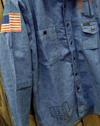 画像4: TOYS McCOY -MILITARY CHAMBRAY SHIRT-