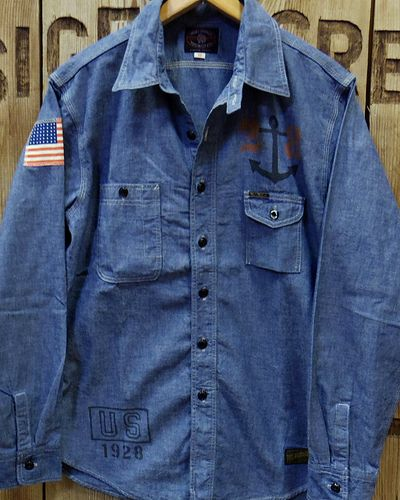 画像2: TOYS McCOY -MILITARY CHAMBRAY SHIRT-