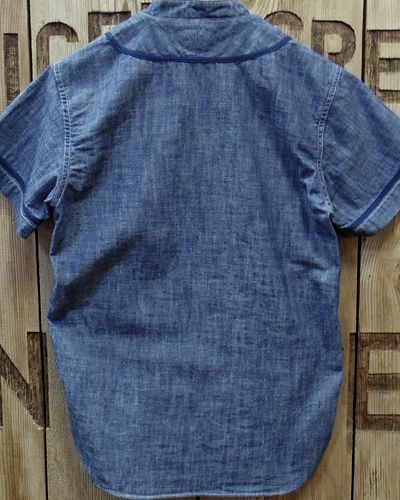"""画像5: Pherrow's """"17S-PBBS1"""" Chambray BaseBall Shirt"""