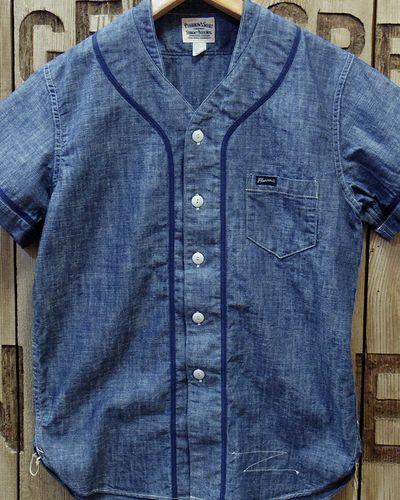 """画像2: Pherrow's """"17S-PBBS1"""" Chambray BaseBall Shirt"""