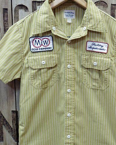 "画像1: Pherrow's ""17S-PWBD1-S"" S/S Work Shirt"
