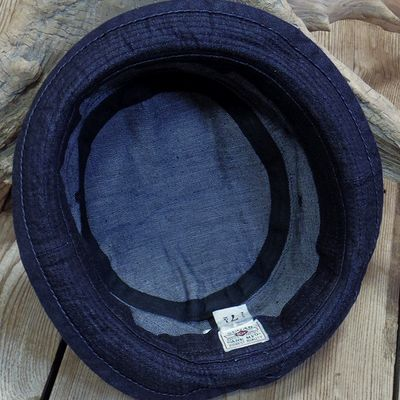 画像5: Sugar Cane -10oz. INDIGO DENIM PORKPIE HAT-