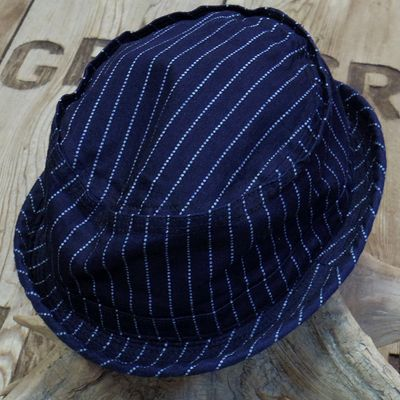 画像1: Sugar Cane -9oz. WABASH STRIPE PORKPIE HAT-
