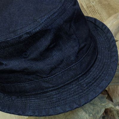 画像2: Sugar Cane -10oz. INDIGO DENIM PORKPIE HAT-