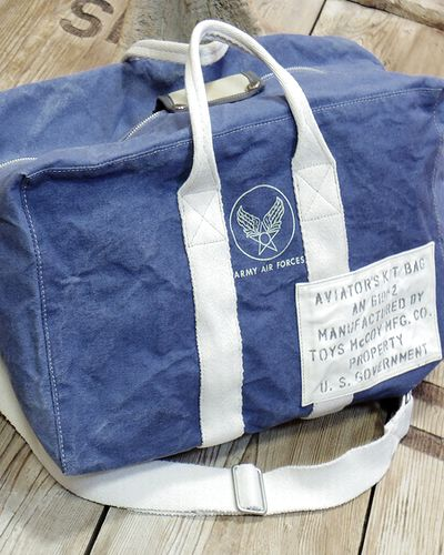 "画像1: TOYS McCOY -AVIATOR'S KIT BAG BLUE ""U.S.A.A.F.""-"
